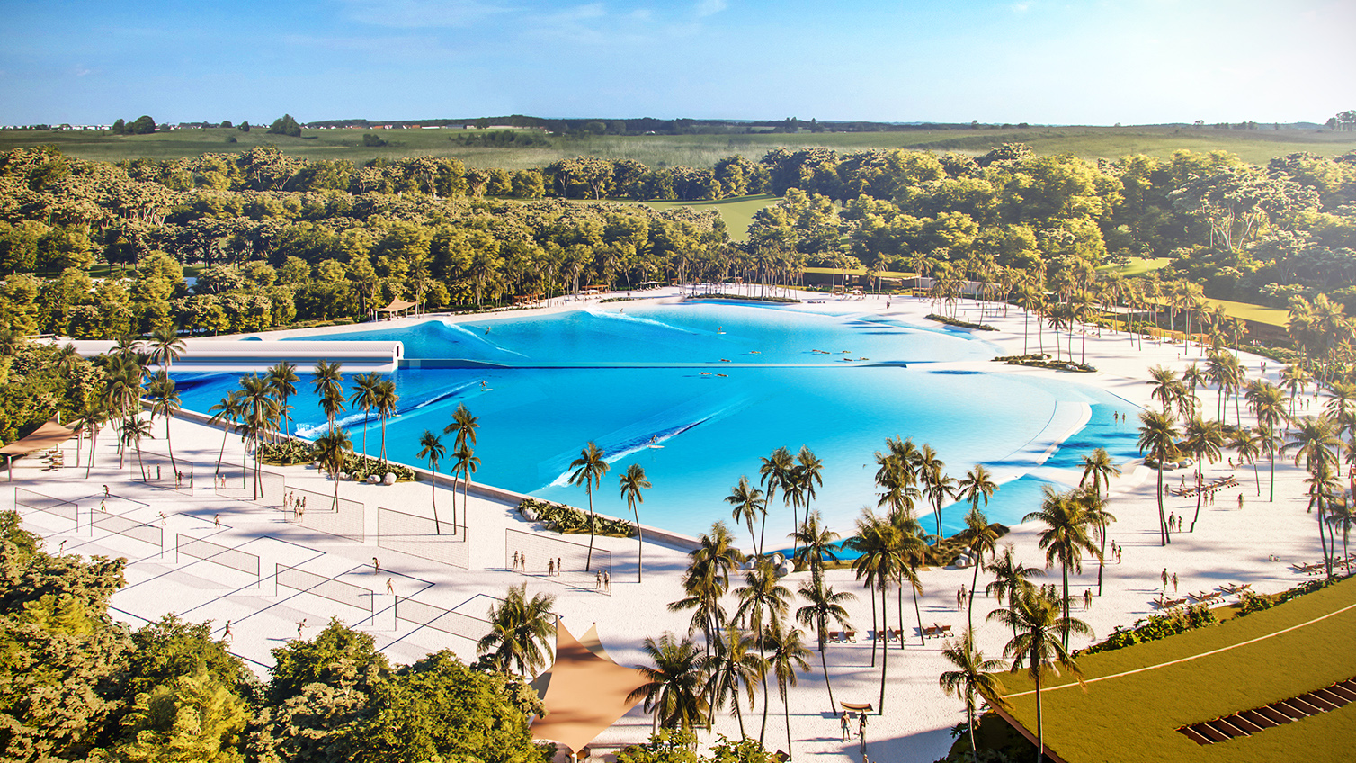 praia da grama wave pool