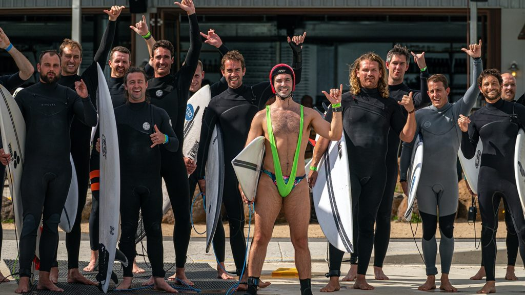 buck's party at urbnsurf