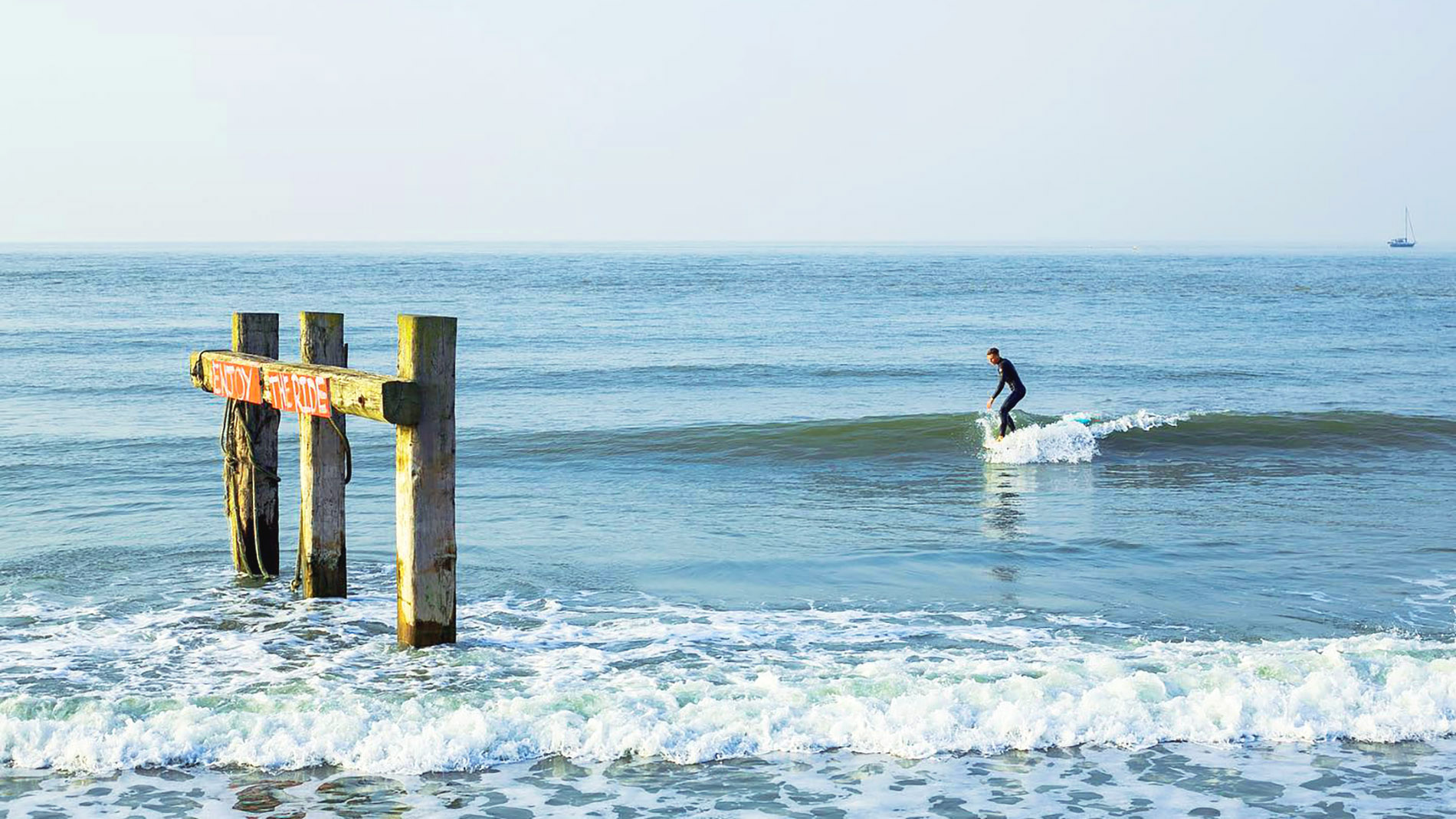 Longboarding the North Sea and hoping for a wave pool
