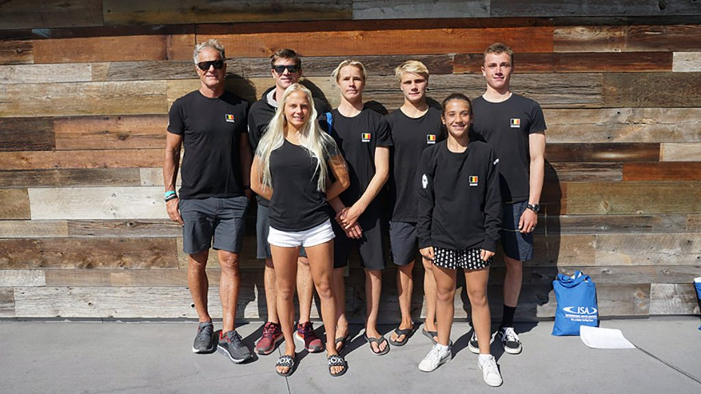 Belgian surf team